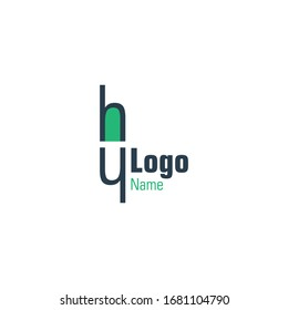 Abstract logo in the form of health medicine with the illustration letter H plus a combination of dark green and blue colors suitable for the needs of your laboratory, hospital, business, company