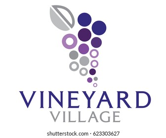 Abstract logo of grapes.