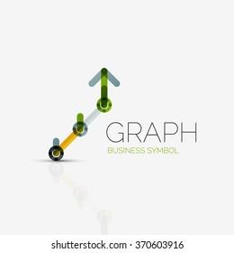abstract logo idea linear chart graph stock vector royalty free