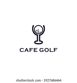 Abstract logo simple flat cafe golf icon