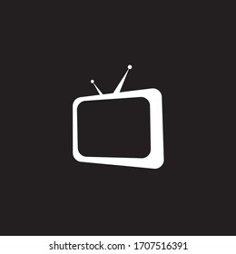 abstract logo with television design elements.