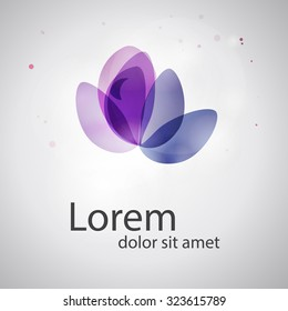 Abstract logo template. Abstract flower. Business abstract icon. As logo, sign, symbol, web, label. Vector illustration.