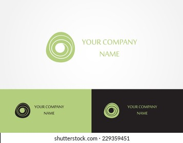 Abstract logo template icon. Logotype for spa or beauty business. Vector. Editable.