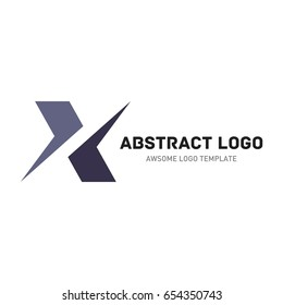 Abstract logo template. Letter x logo template