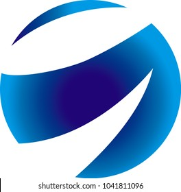 abstract logo used for any branding: business, technology