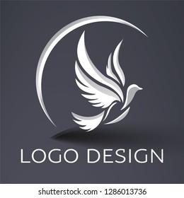 abstract logo vector bird
