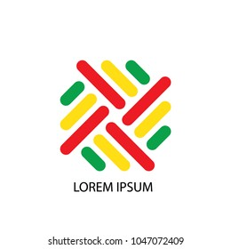 Abstract logo vector. Design colorful woven on white background. Design print for company business. Set 2