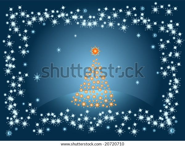 Lonely Christmas.Abstract Lonely Christmas Tree Stock Vector Royalty Free
