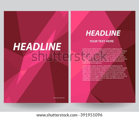 abstract low poly flyers brochure annual stock vector royalty free