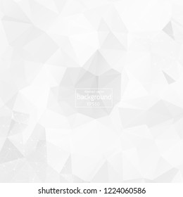 Abstract low poly Grey White technology vector background. Connection structure. Vector data science background. Polygonal vector background. Molecule And Communication Background.