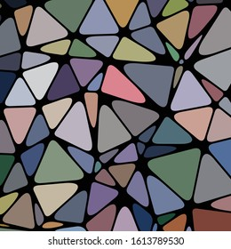 Abstract Low Polygon gradient Generative Art background illustration