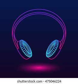 Abstract luminescent headphones