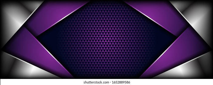 abstract luxurious purple silver overlap layer background