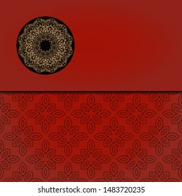 Abstract luxury background with mandala. Vector illustration. Ornament elegant invitation wedding card , invite.