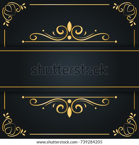abstract luxury background ornament elegant invitation のベクター