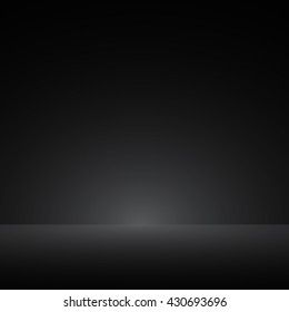 Abstract luxury dark grey and black gradient with border black vignette, Studio backdrop - well use as black backdrop background, black board, black studio background. Vector Illustration.