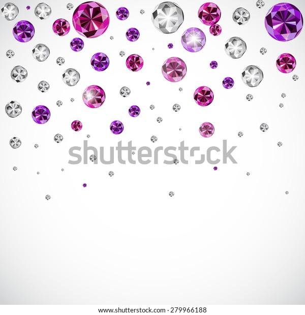 Abstract Luxury Diamond Background Vector Illustration Stock Vector