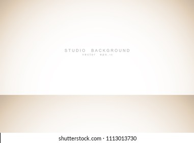 Abstract luxury empty pastel brown gradient with border brown vignette, Studio backdrop display of product, Business backdrop. Vector Illustration.