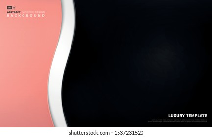 Abstract luxury gradient pink black decoration template design background. Use for ad, poster, artwork, template design, presentation. illustration vector eps10