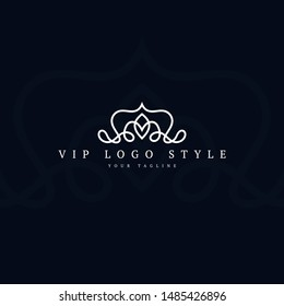 Abstract Luxury Logo Design Concept with clean style