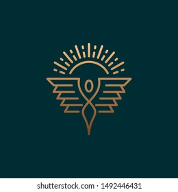 Abstract, luxury logo wing design template Abstract, creative logo design  Color and text can be changed according to your need.