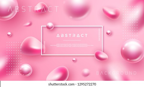 Abstract, luxury, pink background for cosmetic posters or others.