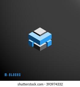 Abstract M block symbol
