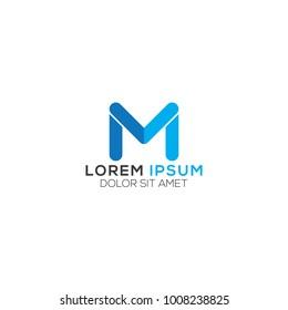 Abstract M Letter Logo Design Vector, Modern Illustration