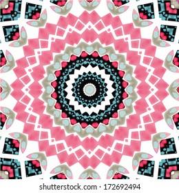 Abstract mandala / kaleidoscope symmetrical colorful decoration vector background