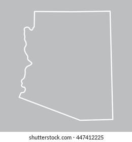 abstract map of Arizona