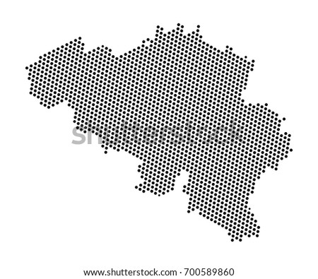 Abstract Map Belgium Dots Planet Lines Stock Vector (Royalty Free ...