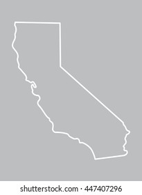 abstract map of California