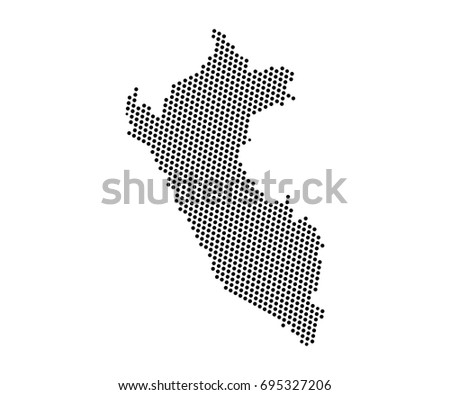 Abstract Map Peru Dots Planet Lines Stock Vector Royalty Free