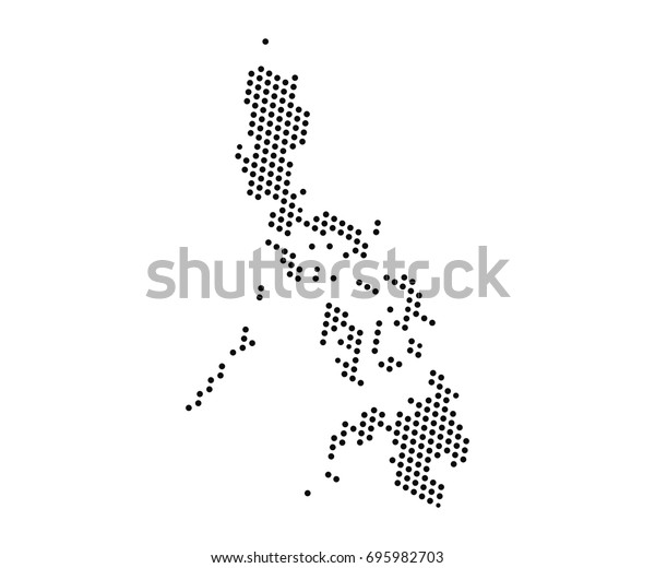 Abstract Map Philippines Dots Planet Lines Stock ...