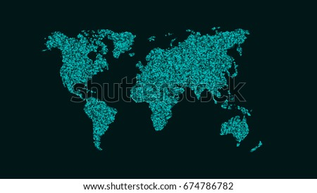 Abstract Map PlaEarth Map Small Stock Vector (Royalty Free