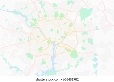 abstract Map showing the  highway  system of washington dc capital of america.vector illustration