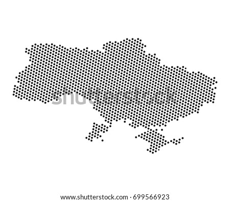 Abstract Map Ukraine Dots Planet Lines Stock Vector Royalty Free