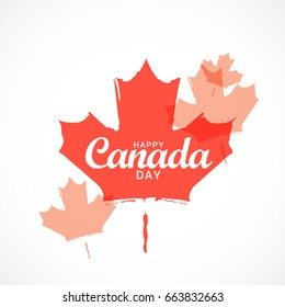 Abstract Maple Leaf Design Of Happy Canada Day.