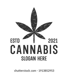 abstract marijuana, cannabis, ganja for cbd simple unique logo design