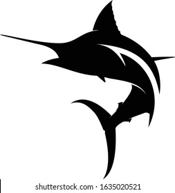 Abstract marlin Logo, A unique abstract marlin logo with fishing Hook Inside.