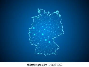 Deutschlandkarte Digital Stock Vectors Images Vector Art