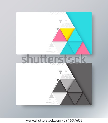 abstract material card background business card stock vector