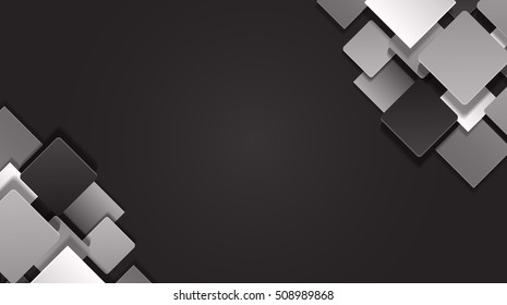 Abstract Material Design geometric shape on background. Vector illustration.
