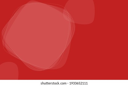 Abstract material with simple lines and shapes, red background and copy space