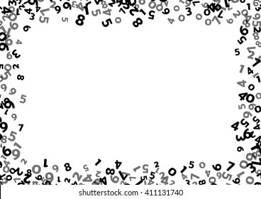 Abstract math number background. Vector number background. Black number background. Number border. Math number layer. Business number cover. Count number background. School background. Report cover