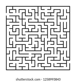 Abstract maze / labyrinth with entry and exit. Vector labyrinth 247.