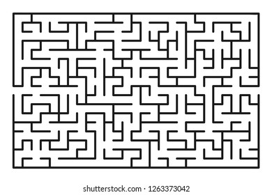 Abstract maze / labyrinth with entry and exit. Vector labyrinth 254.