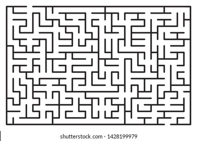 Abstract maze / labyrinth with entry and exit. Vector labyrinth 262.