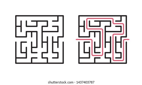 Abstract maze / labyrinth with entry and exit. Vector labyrinth 264.
