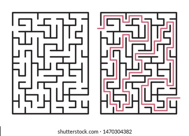 Abstract maze / labyrinth with entry and exit. Vector labyrinth 267.